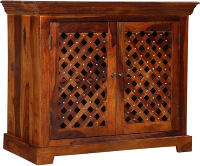 Balaji Solid Wood Bar Cabinet(Finish Color - Honey)