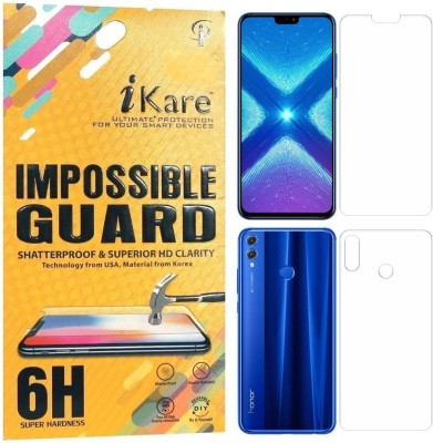 iKare Front and Back Screen Guard for Honor 8X(Pack of 1)
