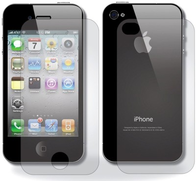Case Creation Front and Back Tempered Glass for Apple Iphone 4S / 4S / 4G(Pack of 2)