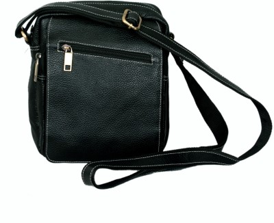MARFIT Men Casual, Formal Black Genuine Leather Sling Bag