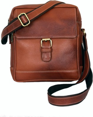 MARFIT Men Casual, Formal Tan Genuine Leather Sling Bag