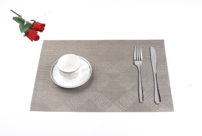 Lushomes Rectangular Pack of 6 Table Placemat(Brown, PVC (Polyvinyl Chloride)) at flipkart