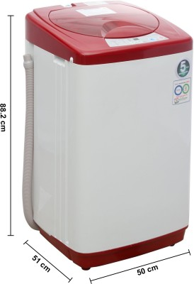 Haier 5.8Kg Fully Automatic Top Load Washing Machine Red (HWM 58-020, Red)