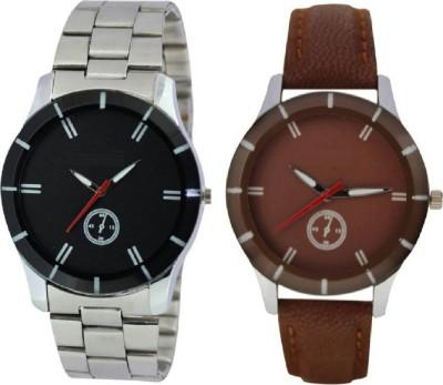 Aeonar Enterprises new design by black dial steel strp &brown watch-forman&woman Watch  - For Men & Women
