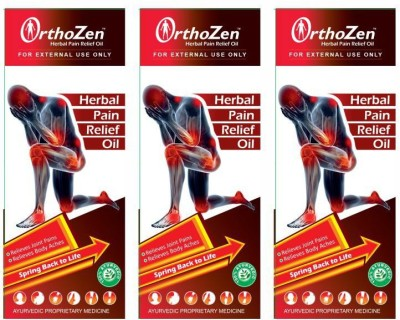 Orthozen Herbal Pain Relief Oil 50ml Pack of 3 Liquid(150 ml)