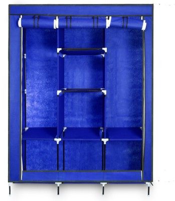 18bd400b7 63% OFF on birdy Microfiber Collapsible Wardrobe(Finish Color - Blue)