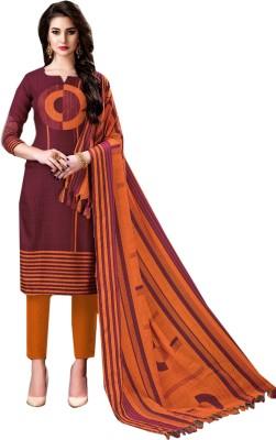 BKRKJ Wool Printed Salwar Suit Dupatta Material(Un-stitched)