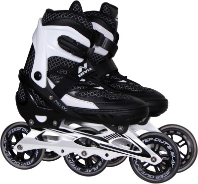 Nivia PRO 100 IQ In-line Skates - Size 37-40 Euro(Black, White)