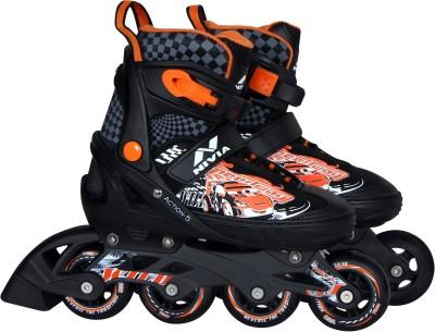 Nivia ACTION-5 In-line Skates - Size 37-40 Euro(Black, Orange)
