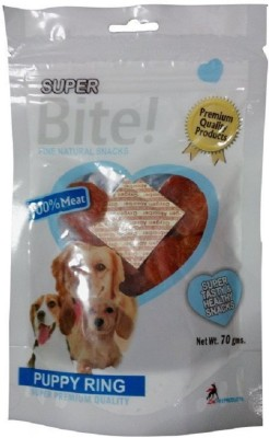 Goofy Tails Super Bite Puppy Ring (Pack Of 6) Chicken Dog Treat(70 g, Pack of 6)