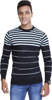 CAPE9 Striped Men Round Neck White T-Shirt