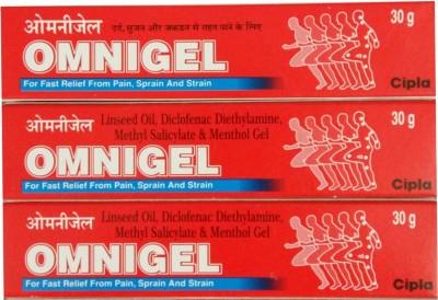 Cipla OMNIGEL 30 GM PACK OF 3 Gel(90 g)