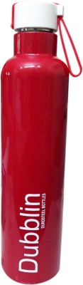 Dubblin MAJESTIC BASKET HOT & COLD STEEL VACUUM INSULATED 750 ml Bottle(Pack of 1, Red, Steel)
