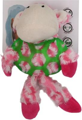 Goofy Tails Basil Monkey Plush Nylon Squeaky Toy For Dog