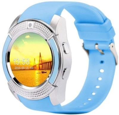 AVIKA Notifier Fitness Blue, White Smartwatch(Blue Strap Free size)