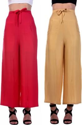 Flyra Regular Fit Women Red Trousers