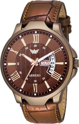 Abrexo Abx2064-BR BROWN Day & Date Watch  - For Men