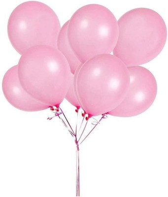 DADEALS Solid BALLOONS-METTALIC-50PCS-PINK Balloon(Pink, Pack of 50)