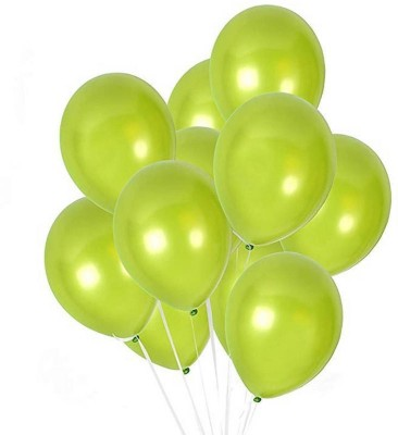 DADEALS Solid BALLOONS-METTALIC-50PCS-Green Balloon(Green, Pack of 50)