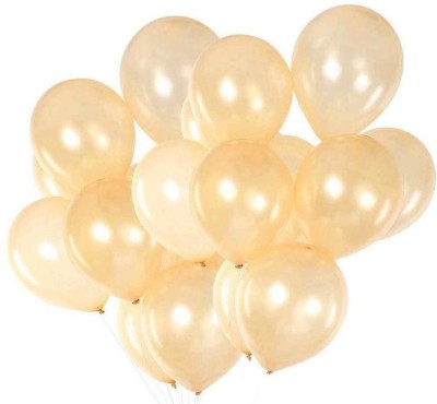 DADEALS Solid BALLOONS-ME Balloon(Beige, Pack of 50)