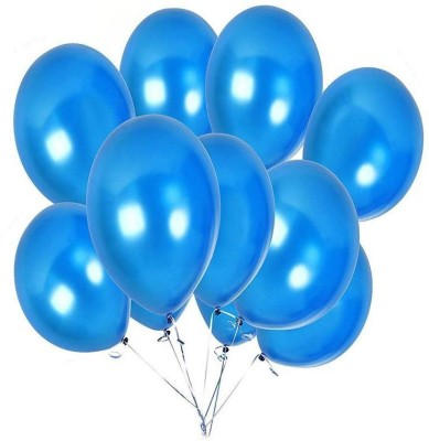 DADEALS Solid BALLOON Balloon(Blue, Pack of 50)