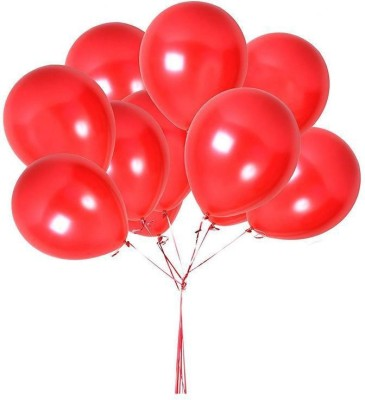 DADEALS Solid BALLOONS-METTALIC-50PCS-RED Balloon(Red, Pack of 50)
