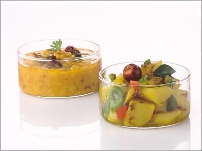 BOROSIL Glass Vegetable Bowl Clear, Pack of 6 BOROSIL Bowls