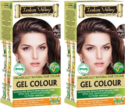 1cd1aed459c2a 8% OFF on Indus Valley Organically Natural Gel Copper Mahogany 5.40 (Pack  of 2