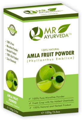 MR Ayurveda 100% Herbal Amla Powder - Prevents Hairfall(100 g)