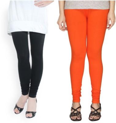 FINAL CHOICE Churidar  Legging(Black, Orange, Solid)