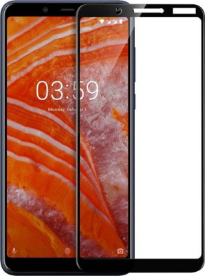 MRNKA Edge To Edge Tempered Glass for Nokia 3.1 Plus(Pack of 1)