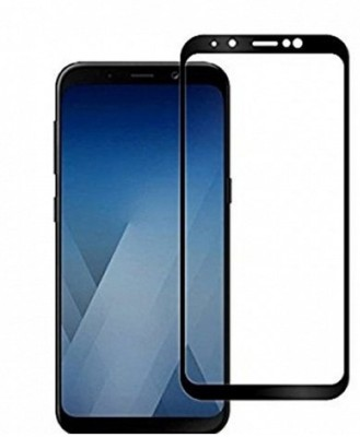 Hycot + Edge To Edge Tempered Glass for Samsung galaxy A6 oleophobic fully coated with full covered with 360 Hard bumper case cover Buy One Get One Combo.(Pack of 1)