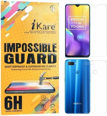 iKare Front and Back Screen Guard for oppo Realme U1(Pack of 1)