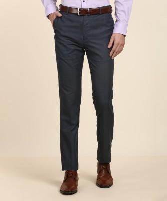 Arrow Slim Fit Men Dark Blue Trousers