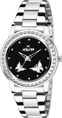 MELVIN LADIES ML-LR-0015 BLK CHN DIAMOND Watch  - For Girls