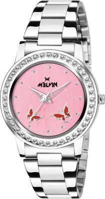 MELVIN LADIES ML-LR-0014 PNK CHN DIAMOND Watch  - For Girls