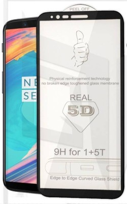 Express Buy Edge To Edge Tempered Glass for OnePlus 5T(Pack of 1)