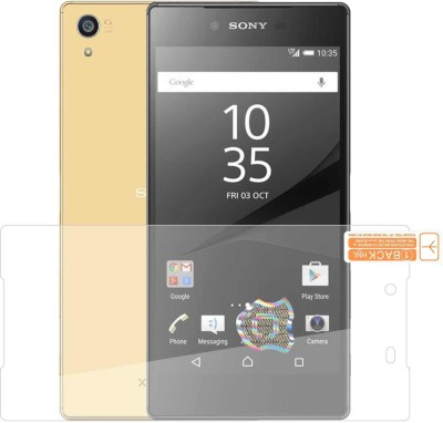 Case Creation Front and Back Screen Guard for Sony Xperia Z L36h,C6603,C6602(Pack of 2)