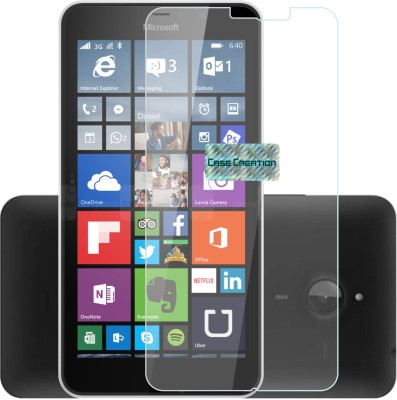 Case Creation Tempered Glass Guard for Nokia Lumia 640XL 2015(Pack of 1)