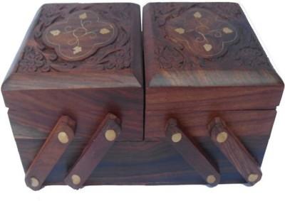 UNIQUE CRAFTS ART SAM313 FOLDING Vanity Box(Brown)