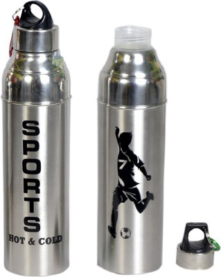 Dynore Insulated Hot   Cold water Bottle 1000 ML Set of 2 1000 ml Bottle Pack of 2, Steel/Chrome, Steel Dynore Water Bottles