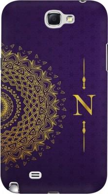 Flipkart SmartBuy Back Cover for Samsung Galaxy Note 2(Multicolor Mandala Floral Vintage Geometrical Alphabet N Designer Print Printed Design, Hard Case, Plastic)