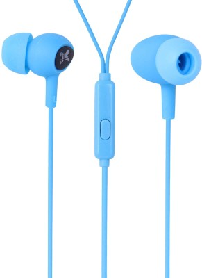 IGATS Earphone Headphone with Microphone (Sky Blue) Wired Headset with Mic(Blue, In the Ear)