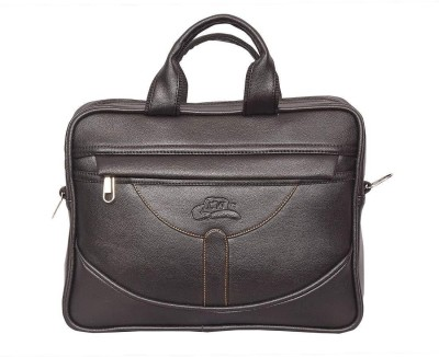 Leatherworld 12 inch Laptop Messenger Bag Black