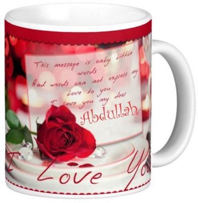 Exoctic Silver Abdullah Love Valentine Romantic Quotes 04 Ceramic Mug(330 ml)