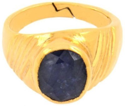 SMS Retail 7.25 Ratti Stone Sapphire Gold Plated Ring at flipkart