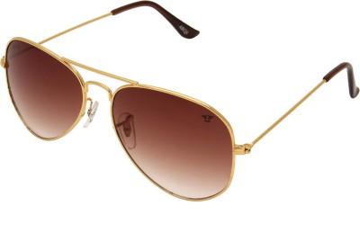 Abqa Aviator Sunglasses(Brown)