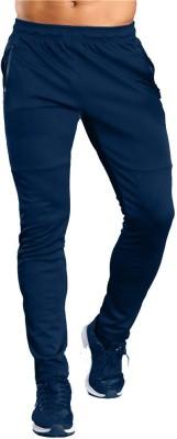 ZESTEEZ Solid Men Dark Blue Track Pants