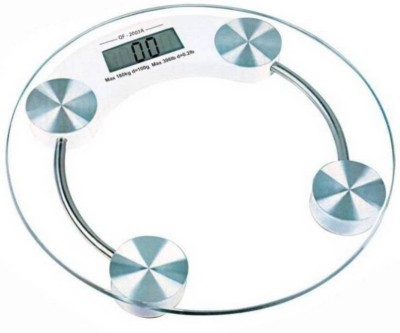 SHIVONIC Collection Personal Health Human Body Weight Machine 8 mm Round Glass Weighing Scale White SHIVONIC Weighing Scales