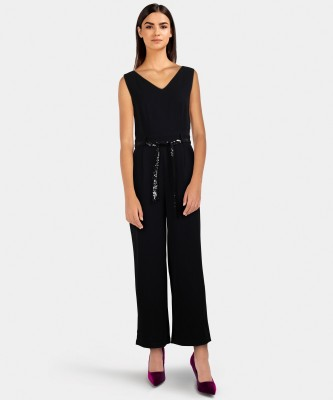 United Colors of Benetton Solid Women Jumpsuit at flipkart